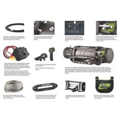 Troliu Wireless Ironman4x4 12.000lbs (5443kg) 12V plasma Dyneema 9mm