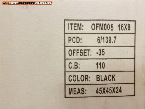 ofm005 16X8J – 6×139.7 – ET-35_