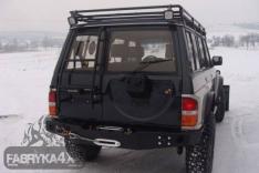 Bara spate OFF ROAD Nissan Patrol Y60 cu placă pentru troliu