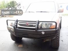 Bara fata OFF ROAD cu bull bar Mitsubishi Pajero III 99-06