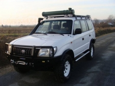 Bara fata OFF ROAD cu bull bar Toyota Land Cruiser J95 96-02 model fara overfender