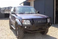 Bara fata OFF ROAD cu bull bar Toyota Land Cruiser J95 96-02