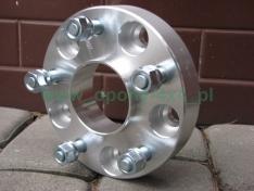 Flanse distantiere 38mm 5 x 127 1.2mm cu inel de centrare pentru G. Cherokee WJ, Wrangler JK