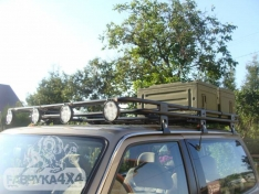 Portbagaj Roof Rack scurt cu plasa Nissan Patrol GU4