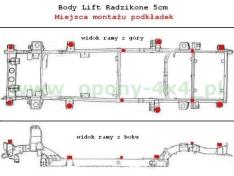Bucse inaltare caroserie Nissan Patrol – 50 mm