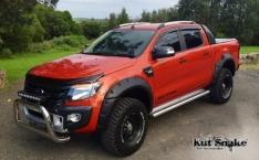 Overfendere pentru Ford Ranger T6 PX (2011-2018)- 8.5 cm negre