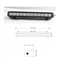Led Bar Cree 120W 53.3 CM Combo