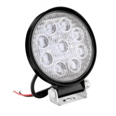 Lampa de lucru 9 LED-uri 27W Flood Slim Rotund 12V