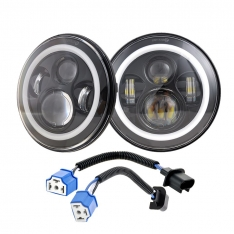 Set faruri LED cu Angel Eyes JEEP Wrangler Nissan Patrol Suzuki Samurai